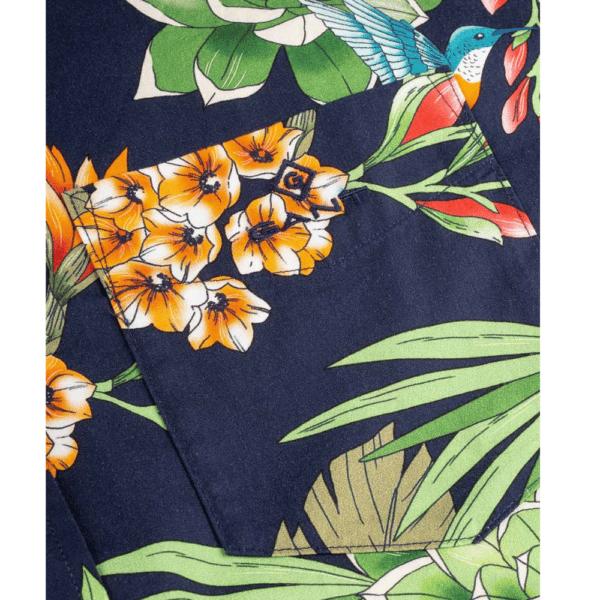 GANT Regular Fit Short Sleeve Humming Garden Print Shirt Pocket