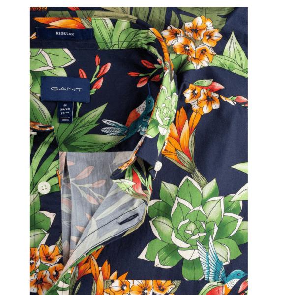GANT Regular Fit Short Sleeve Humming Garden Print Shirt button