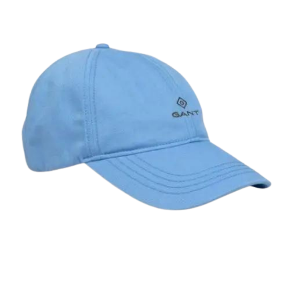 Gant Cotton Twill Cap in Pacific Blue