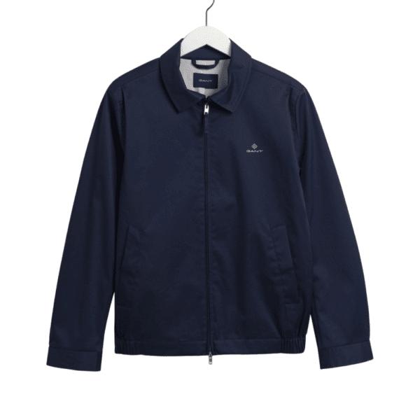 Gant Windcheater Jacket In Deep Ocean Blue Front