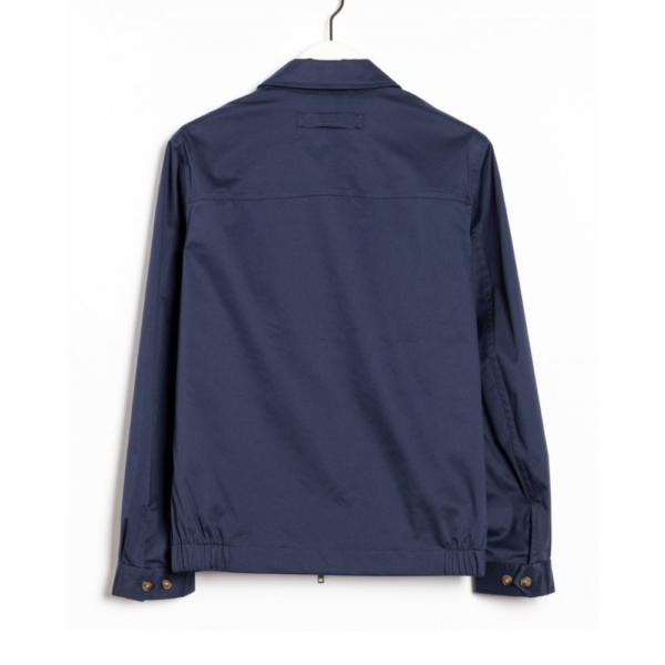 Gant Windcheater Jacket In Deep Ocean Blue Rear