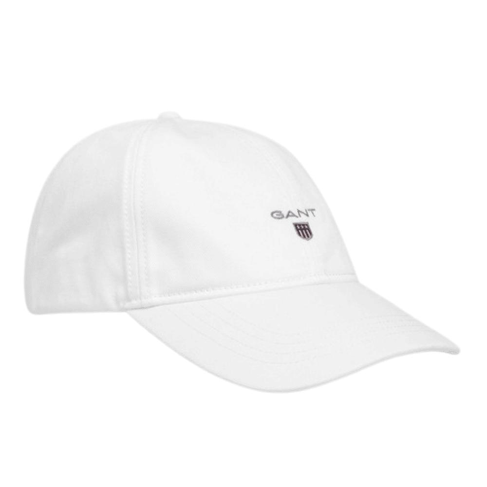 Gant cotton twill cap in white