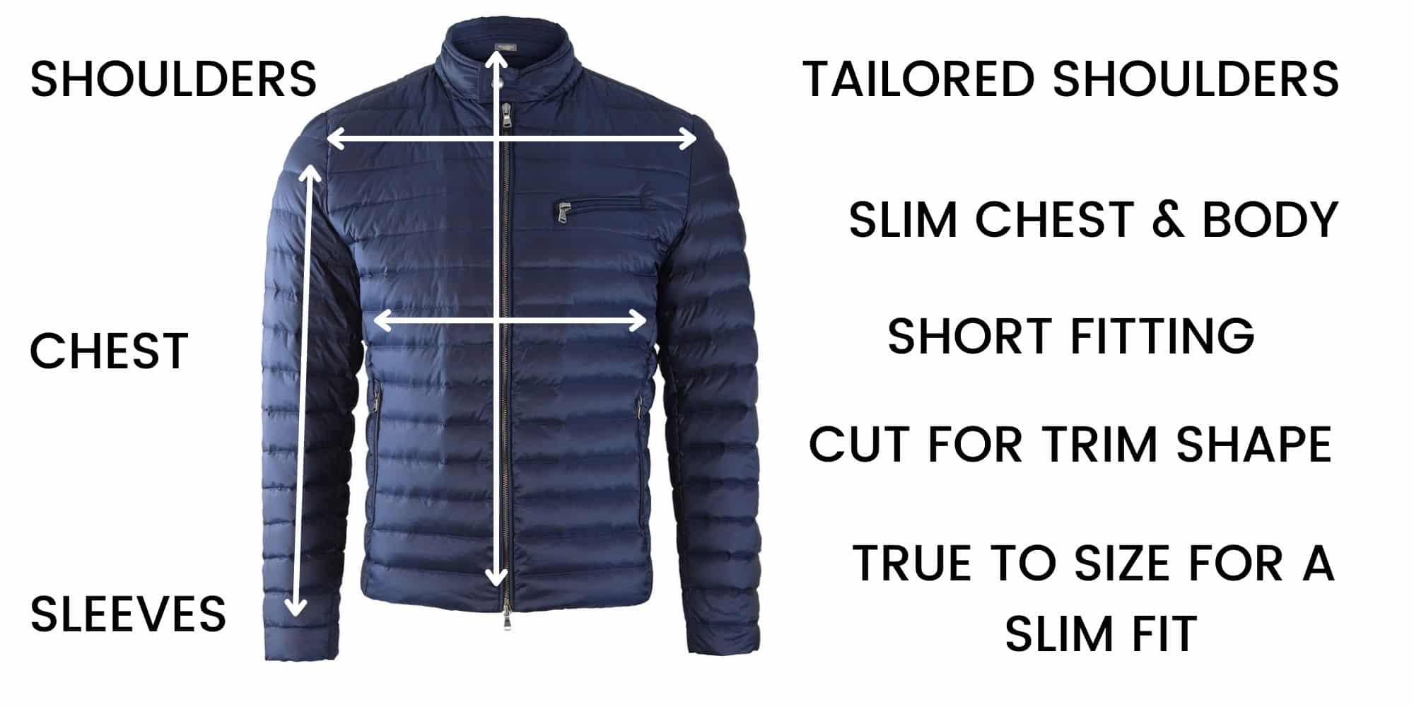 Hackett Casual Jacket Size Guide