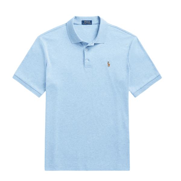 POLO RALPH LAUREN Slim Fit Soft Cotton Polo Shirt in Blue