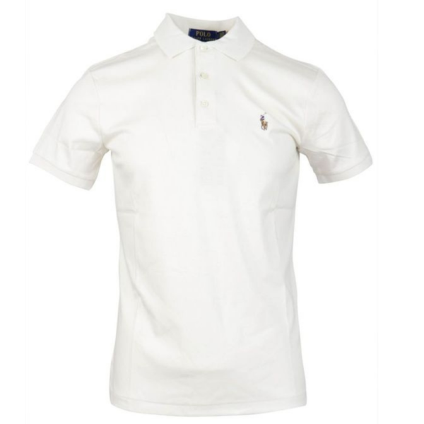 POLO RALPH LAUREN Slim Fit Soft Cotton Polo Shirt in Cream