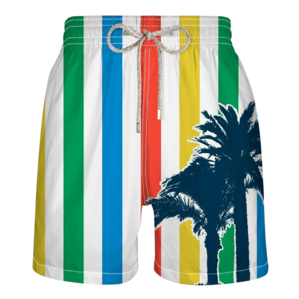 VILEBREQUIN Mens STRIPED PALM TREE SWIMSUIT SHORTS
