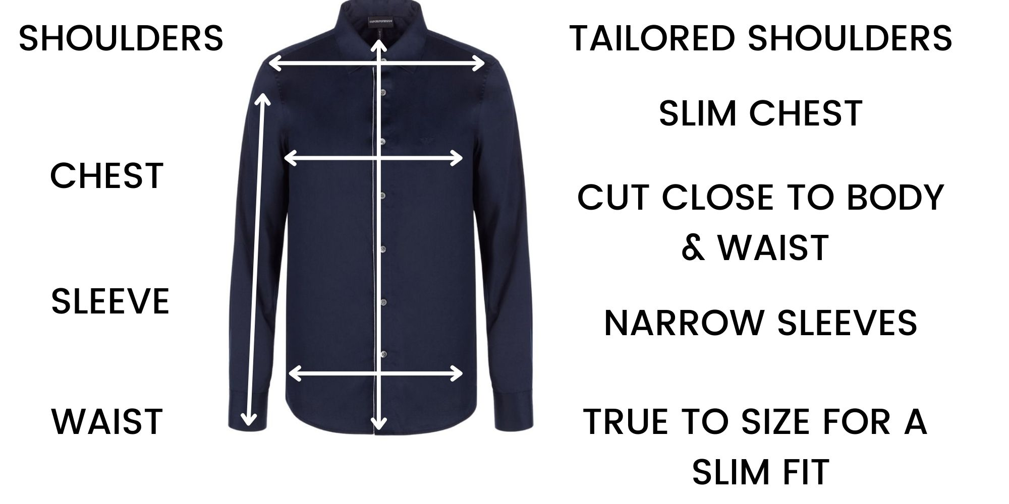 Emporio Armani Shirts Size Chart