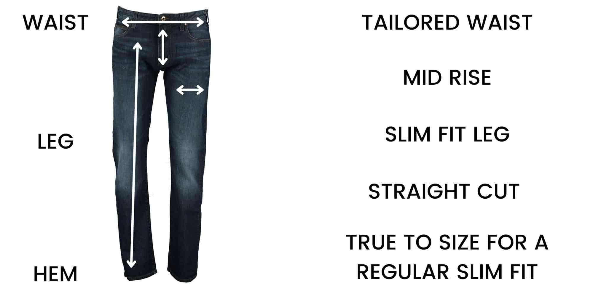 Emporio Armani Jeans J45 Slim Size Guide