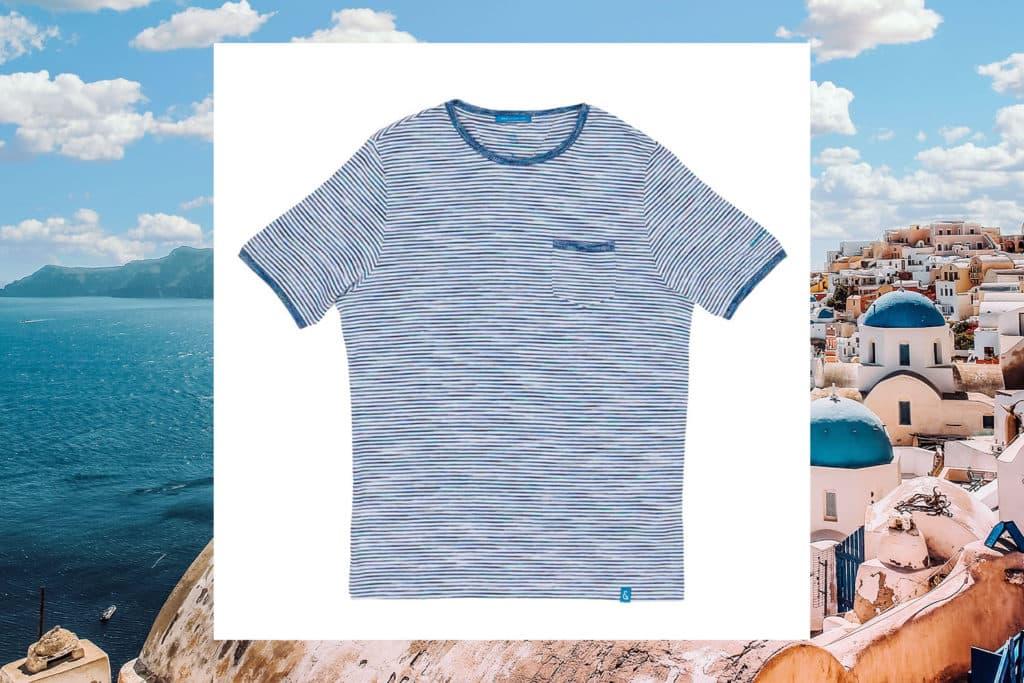 striped t shirt COLOURS SONS LINEN SHIRT COLORBLOCK
