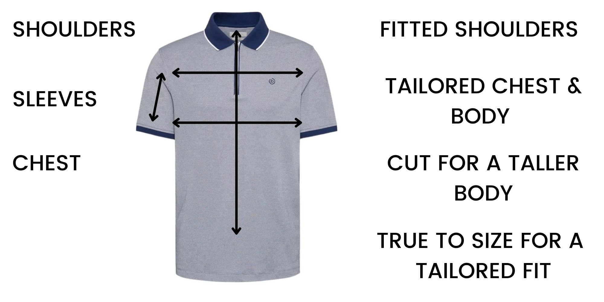 Bugatti polo shirts Size Guide
