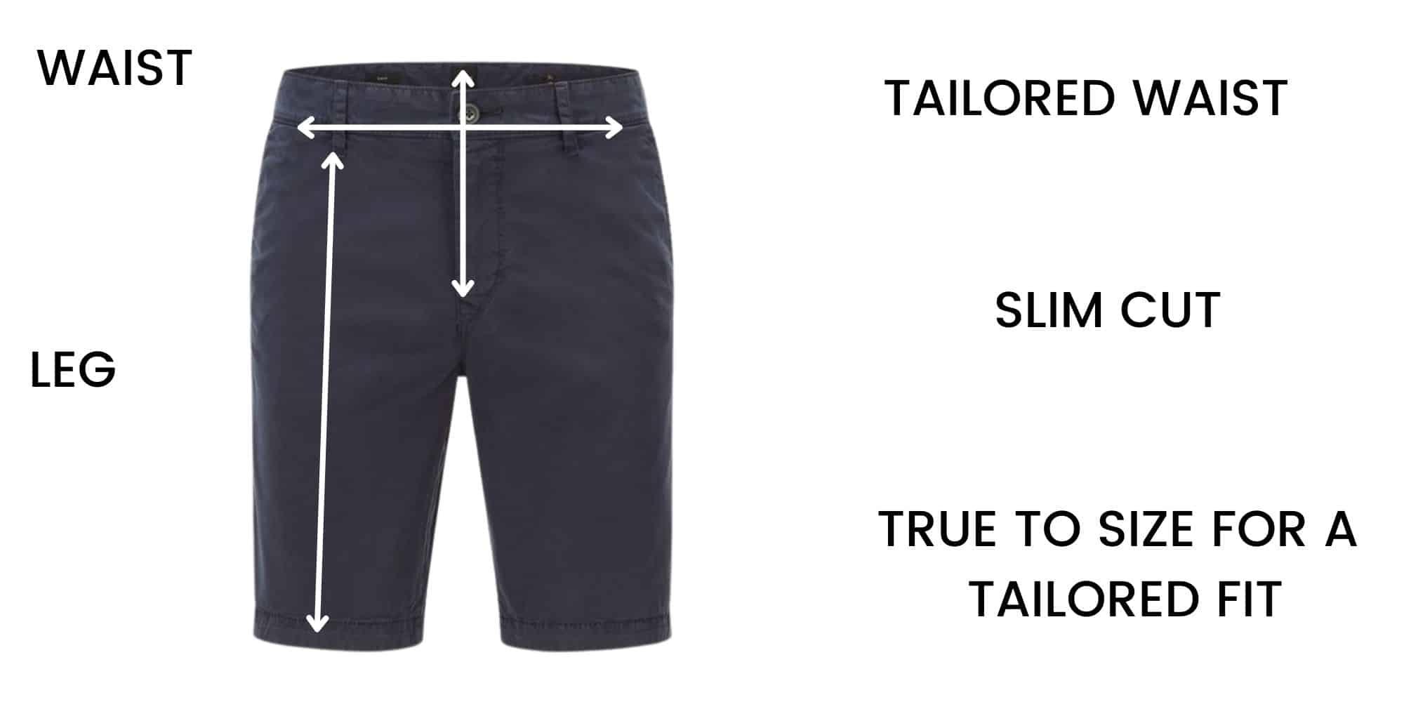 Boss Shorts Size Chart