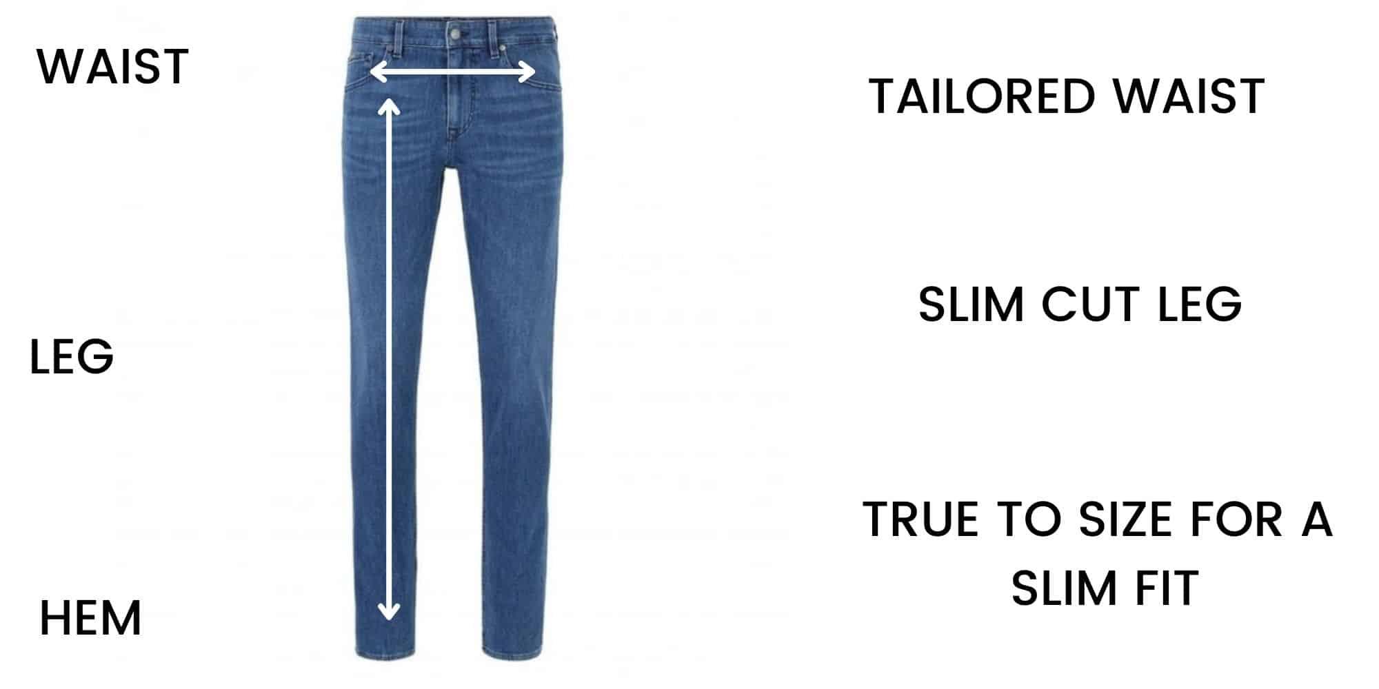 Boss Jeans Slim Fit Size Chart