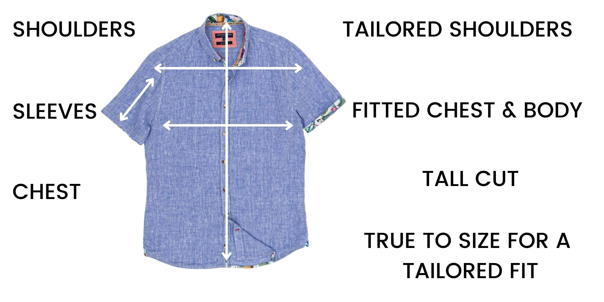 Colours and Sons Shirts Size Chart