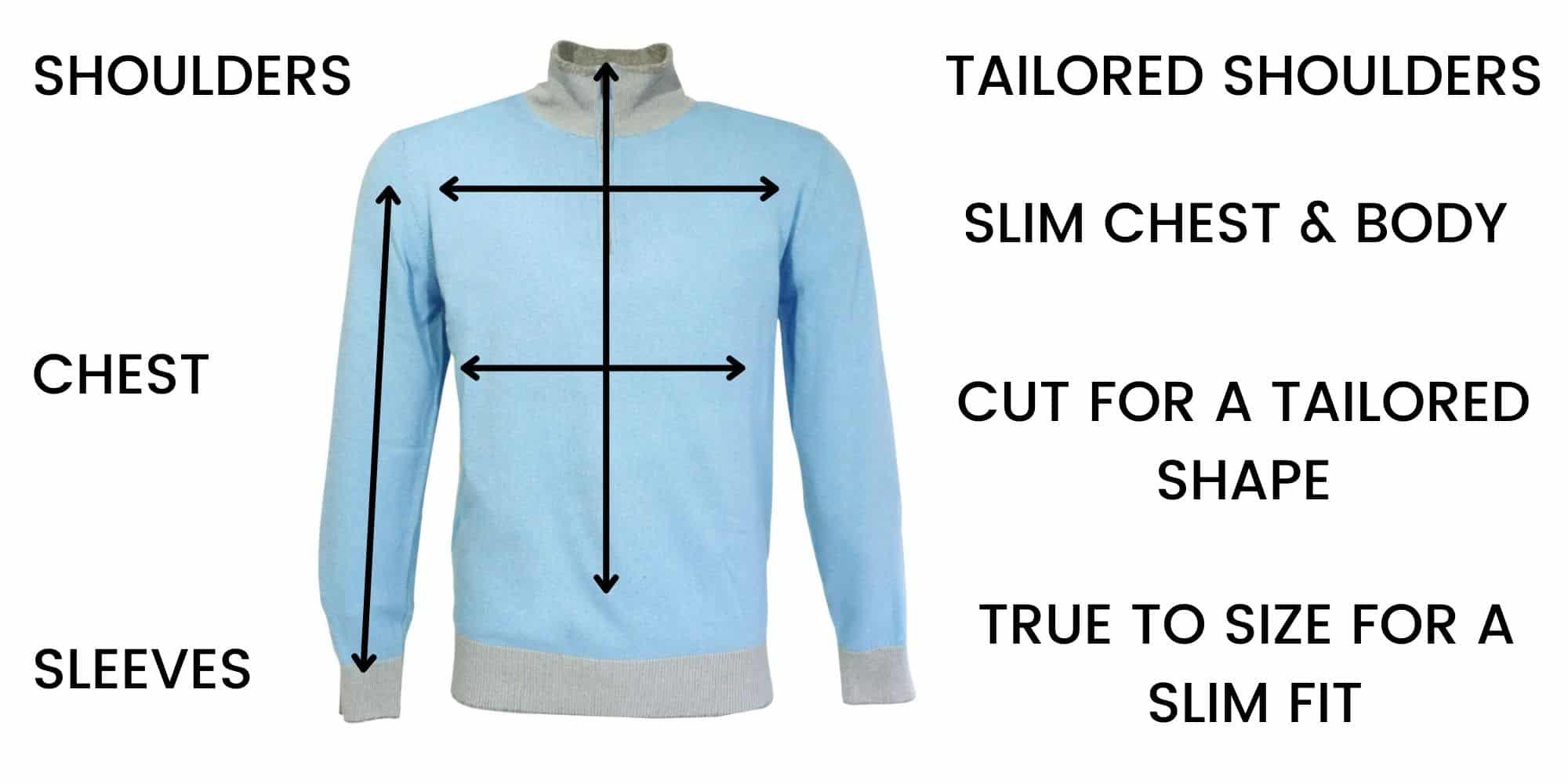 Codice Knitwear Size Guide