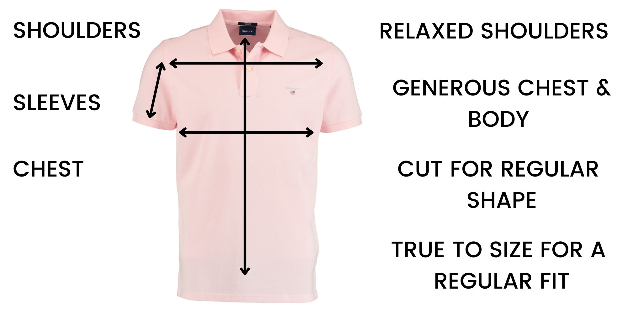GANT polo shirt Size Chart