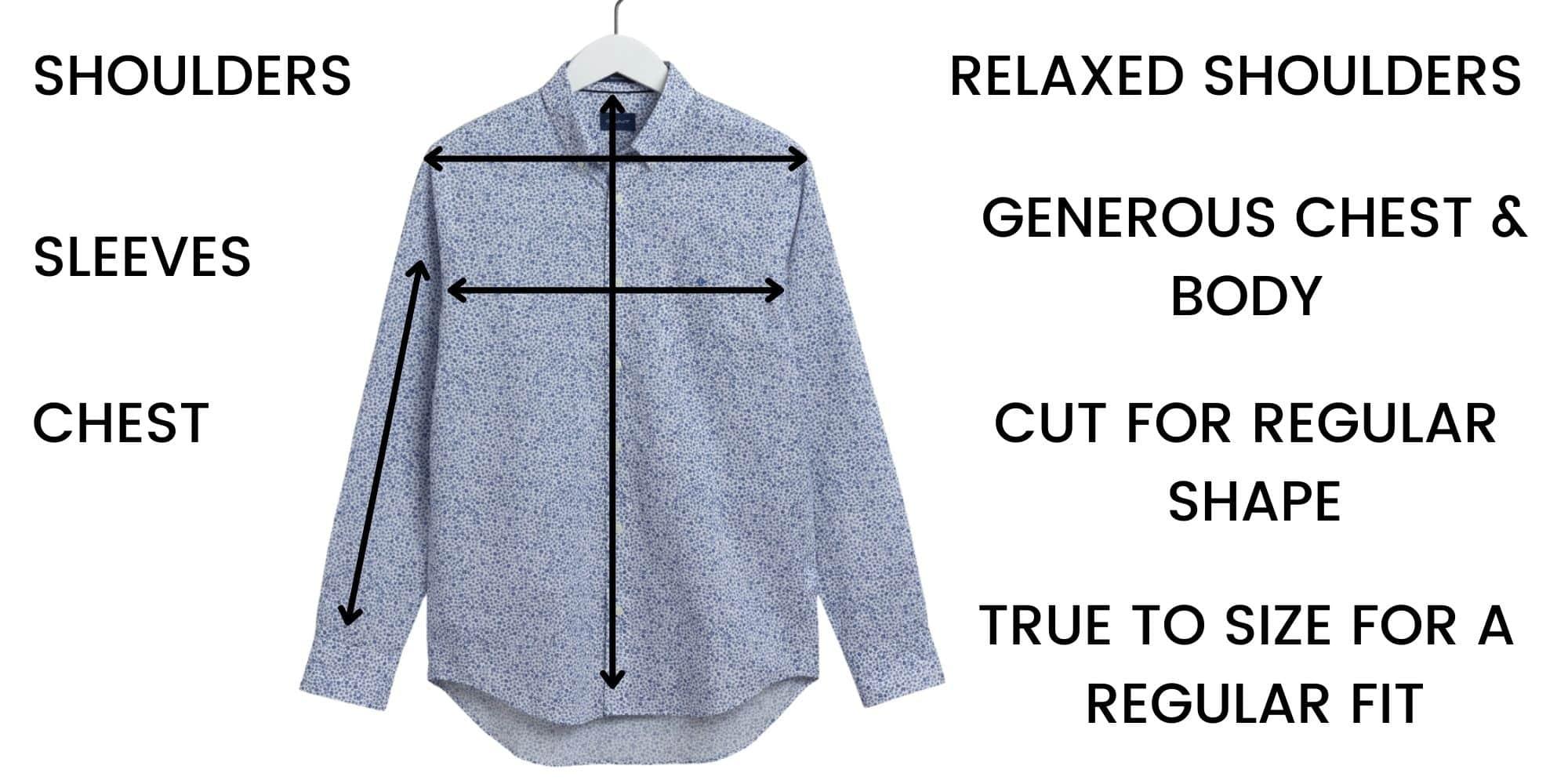 GANT shirt Size Chart