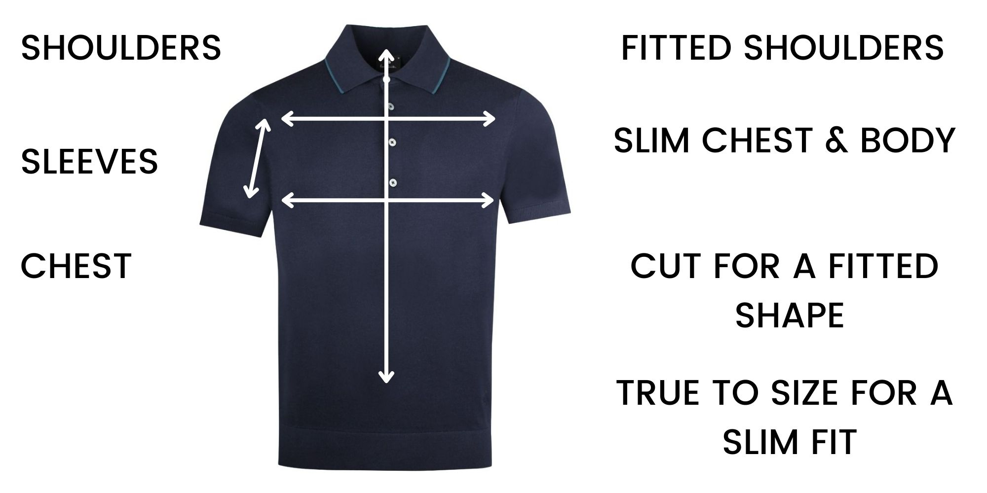 Paul Smith polo shirts Size Guide