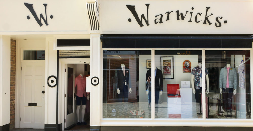 Warwicks window shop