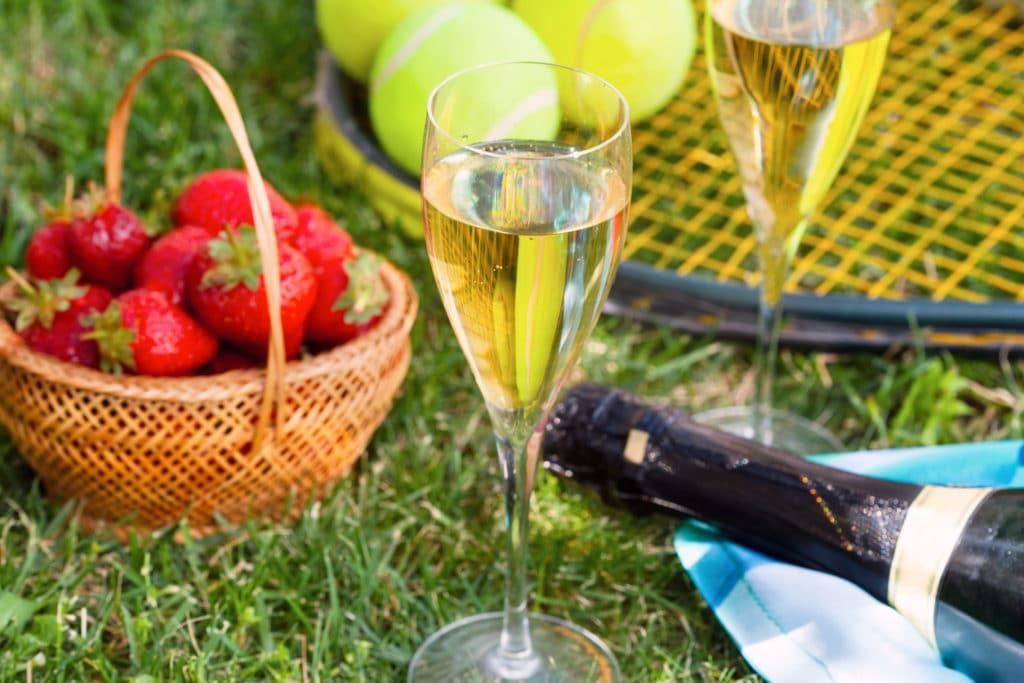 Wimbledon strawberries and cream