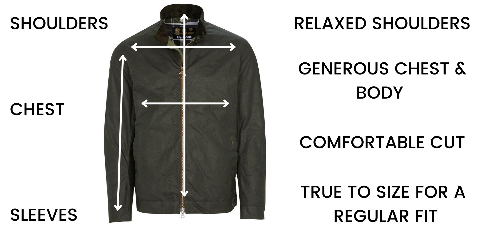 Barbour Casual Jackets Size Guide