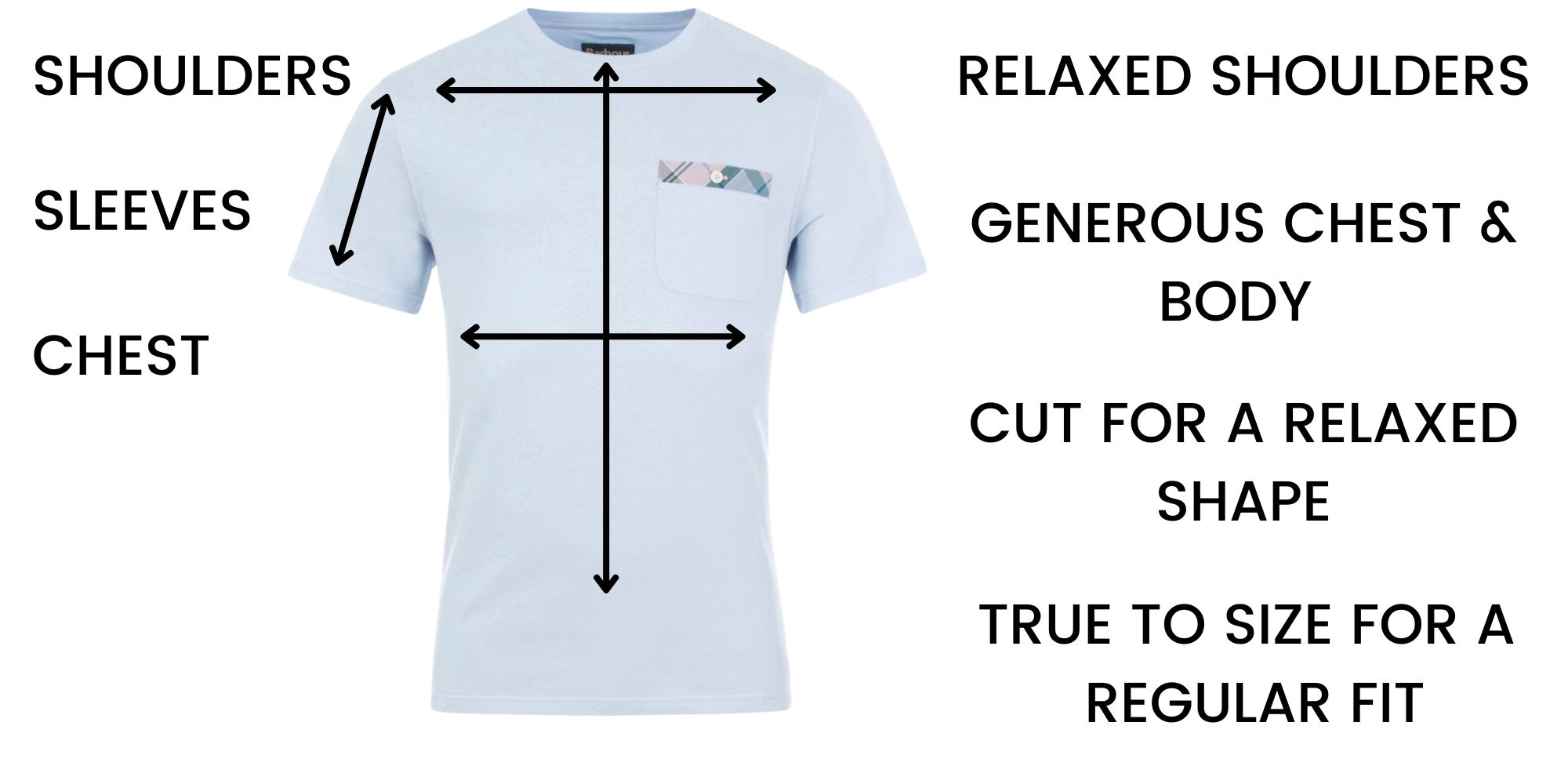 Barbour t shirts Size Guide