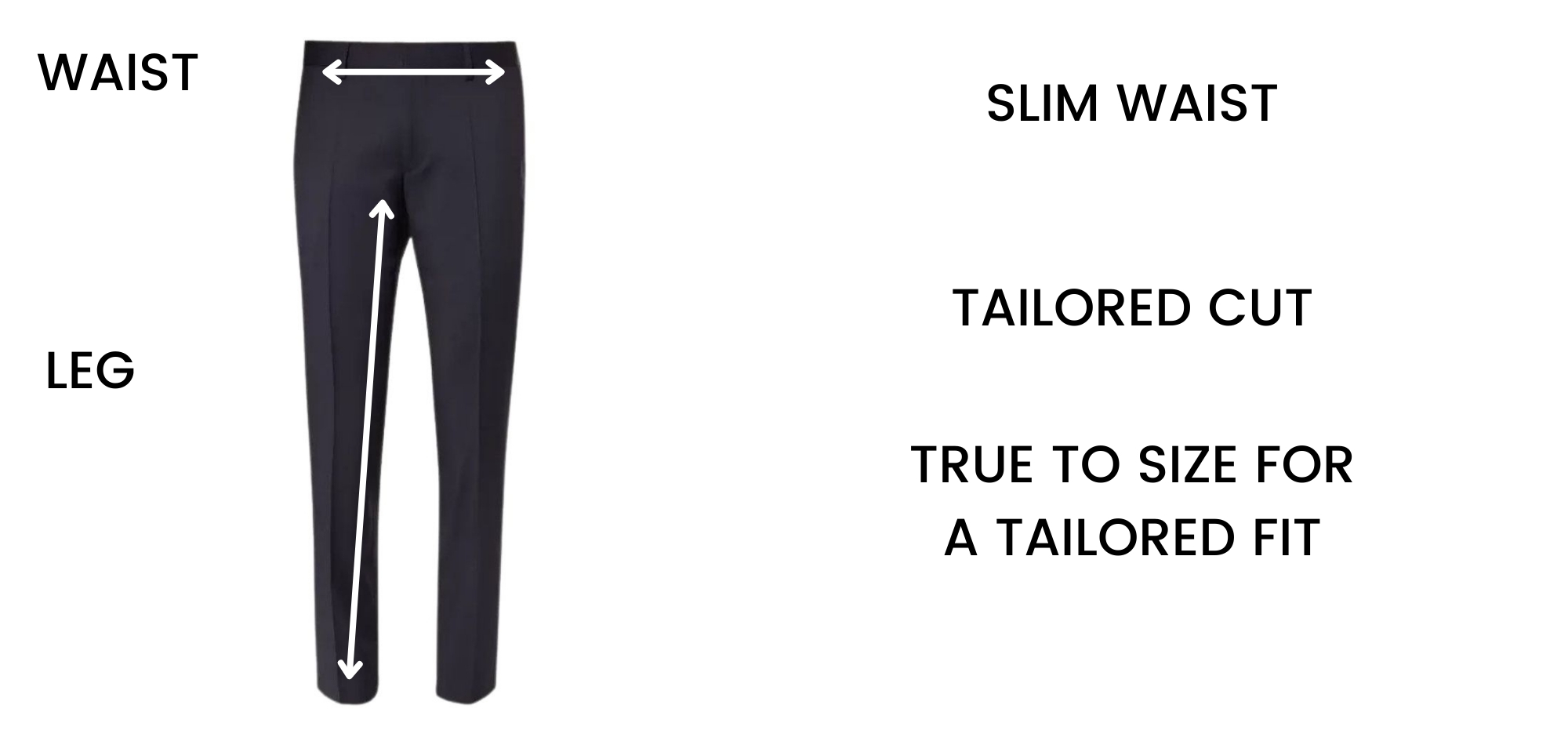 BOSS TROUSER - CONTEMPORARY FIT SIZE CHART