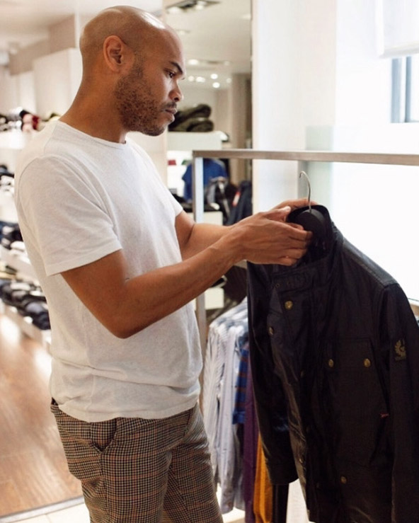 Nick Hems styling clients shopping