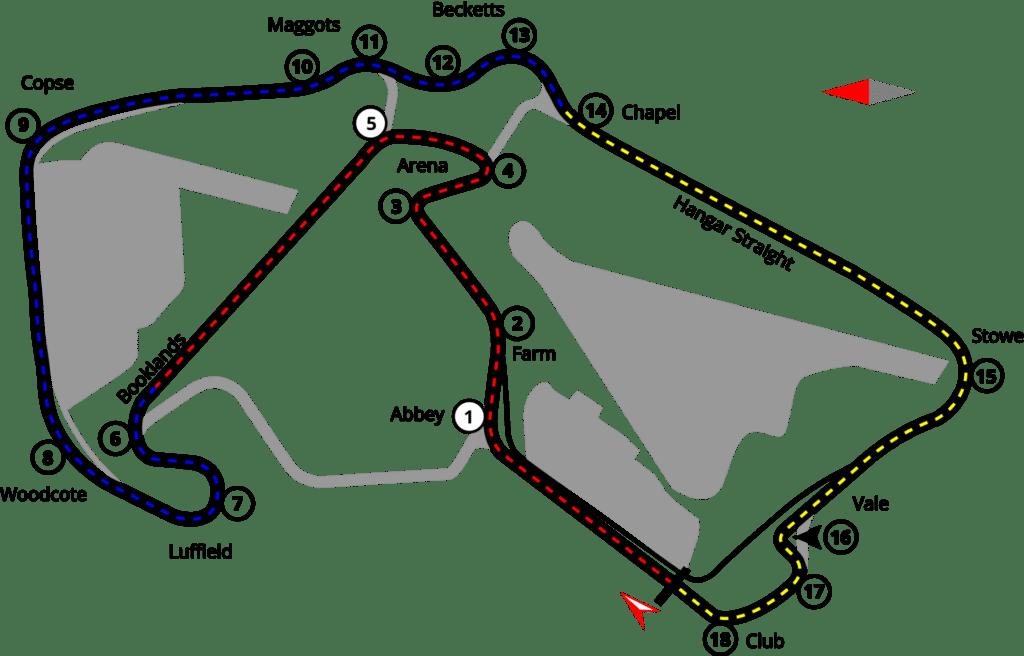 Silverstone Circuit vector map