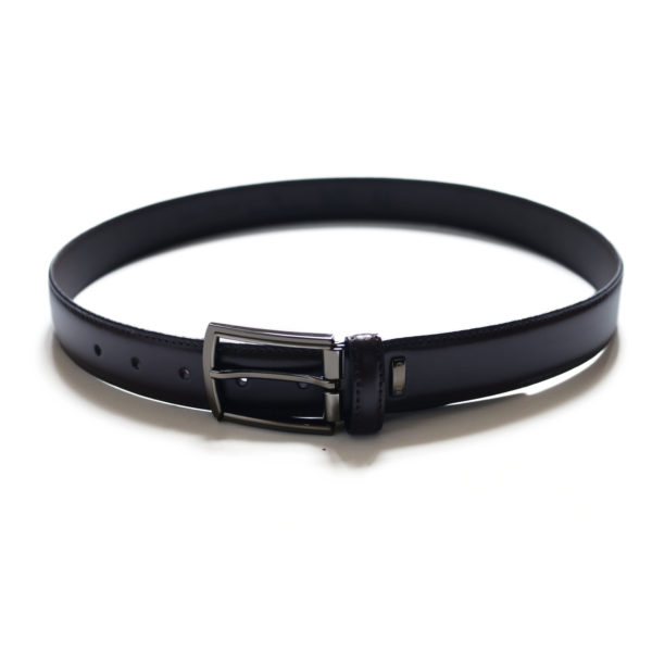 MIGUEL BELLIDO SMOOTH LEATHER navy BELT